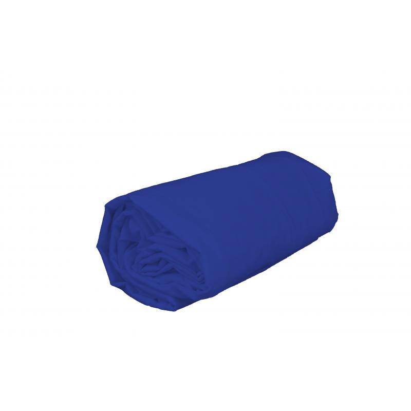 drap housse 2 personnes 160 x 200 cm pur coton bleu de prusse. Black Bedroom Furniture Sets. Home Design Ideas