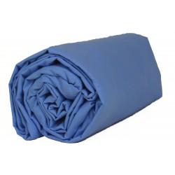 Drap housse 160 x 200 Bleu nuage VOSGES
