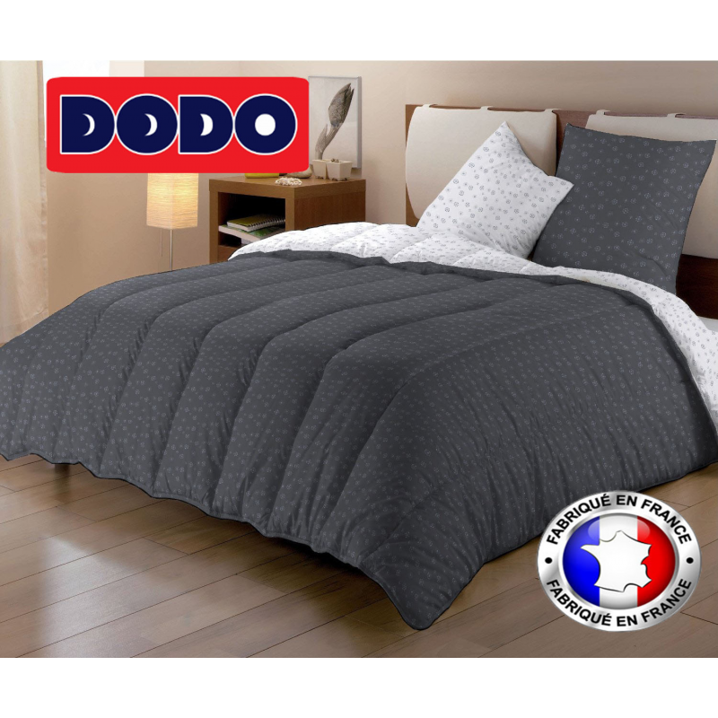 couette dodo 2 personnes motifs argent s 500 gm chaude et l g re. Black Bedroom Furniture Sets. Home Design Ideas