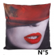 COUSSINS RED LIPS 40 x 40 CM