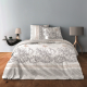 "Housse de couette collection ""LUXE"" Chabby chic gris 220 x 240 cm"