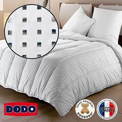 Couette DODO 220 x 240 Square motif argenté