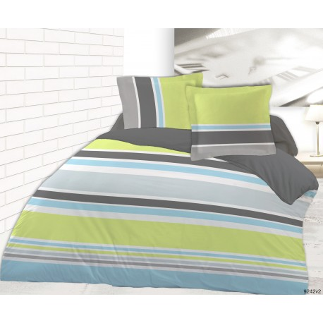 Housse de couette 220x240 RAYURES + 2 taies